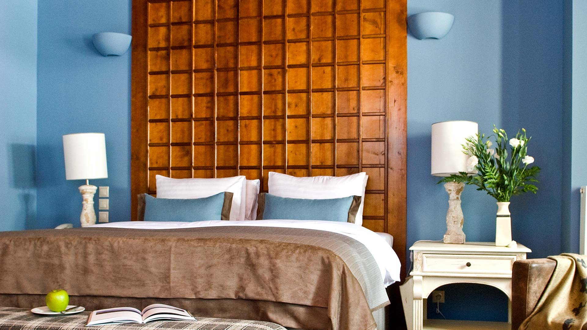 Superior δωμάτιο στο ξενοδοχείο Αρχοντικό Χατζηγάκη,Περτούλι, Ελάτη